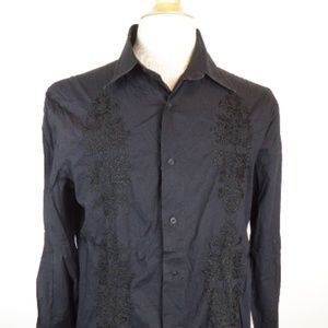 ROBERTO CAVALLI JUST ITALY EMBROIDERED Shirt i54 L